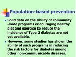 population based prevention