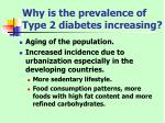 why is the prevalence of type 2 diabetes increasing