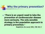 why the primary prevention