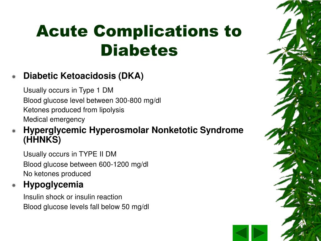 Acute Complications to Diabetes