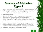 causes of diabetes type 1