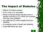 the impact of diabetes