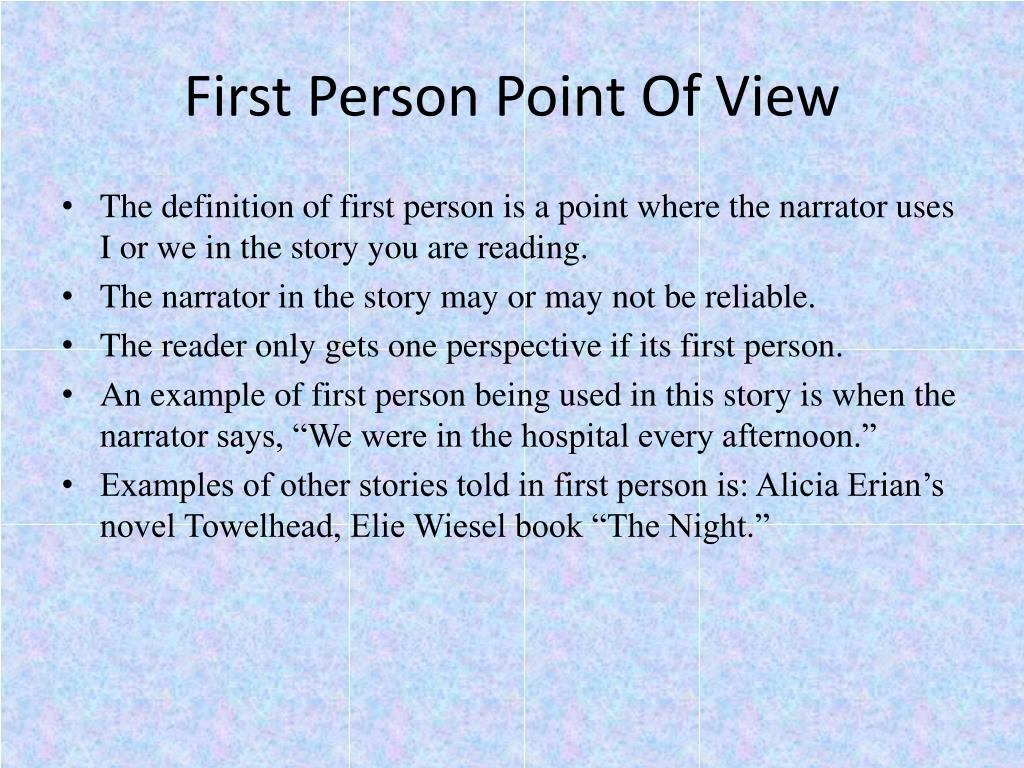first person point of view catcher Tutorial: the catcher in the rye what is the difference between first-person and third-person narration a first-person narrator is usually (but not always) a character in the novel, and thus relates the story from his/her own point of view.