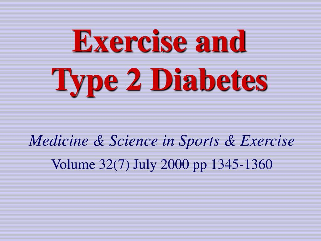 exercise and type 2 diabetes l.