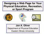 designing a web page for your physical education recreation or sport program
