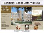example booth library at eiu