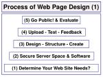 process of web page design 1