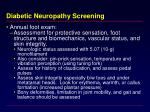 diabetic neuropathy screening
