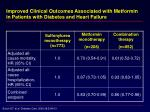 improved clinical outcomes associated with metformin in patients with diabetes and heart failure13