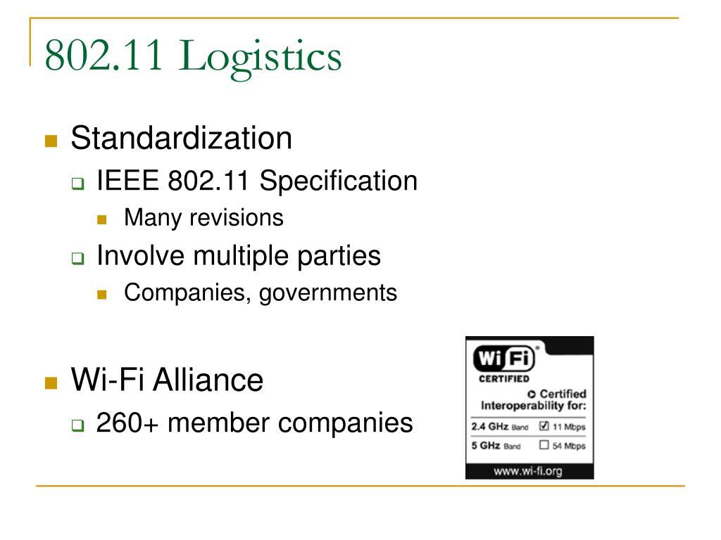 802.11 Logistics