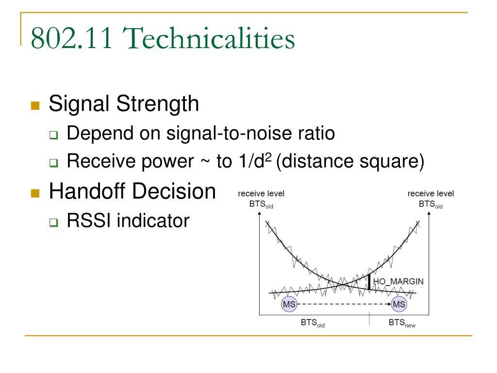 802.11 Technicalities