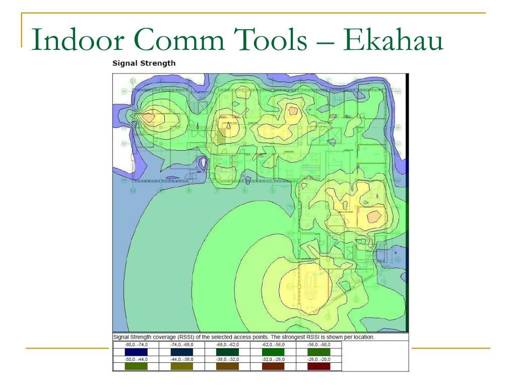 Indoor Comm Tools – Ekahau