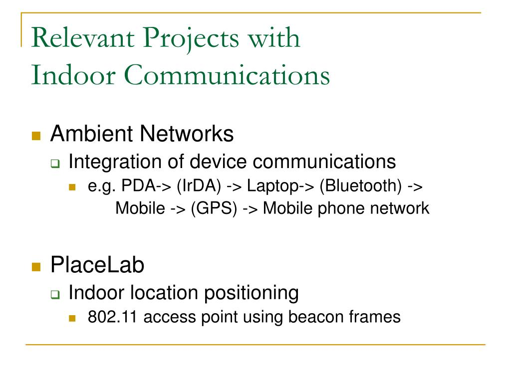 Relevant Projects with