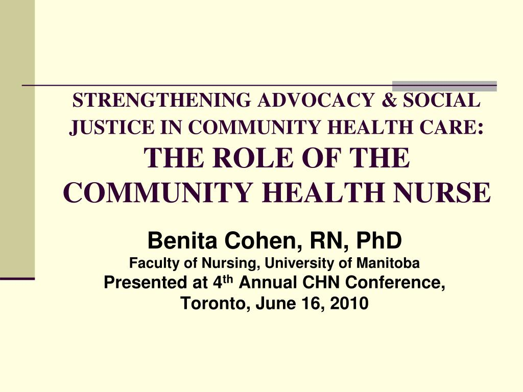 community health social care Teams of nurses and therapists coordinate care, working with professions  including gps and social care additionally community health.