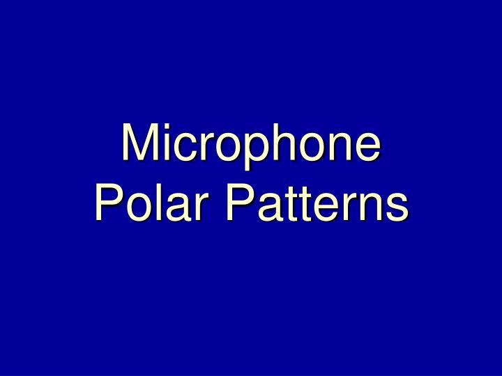 Microphone polar patterns