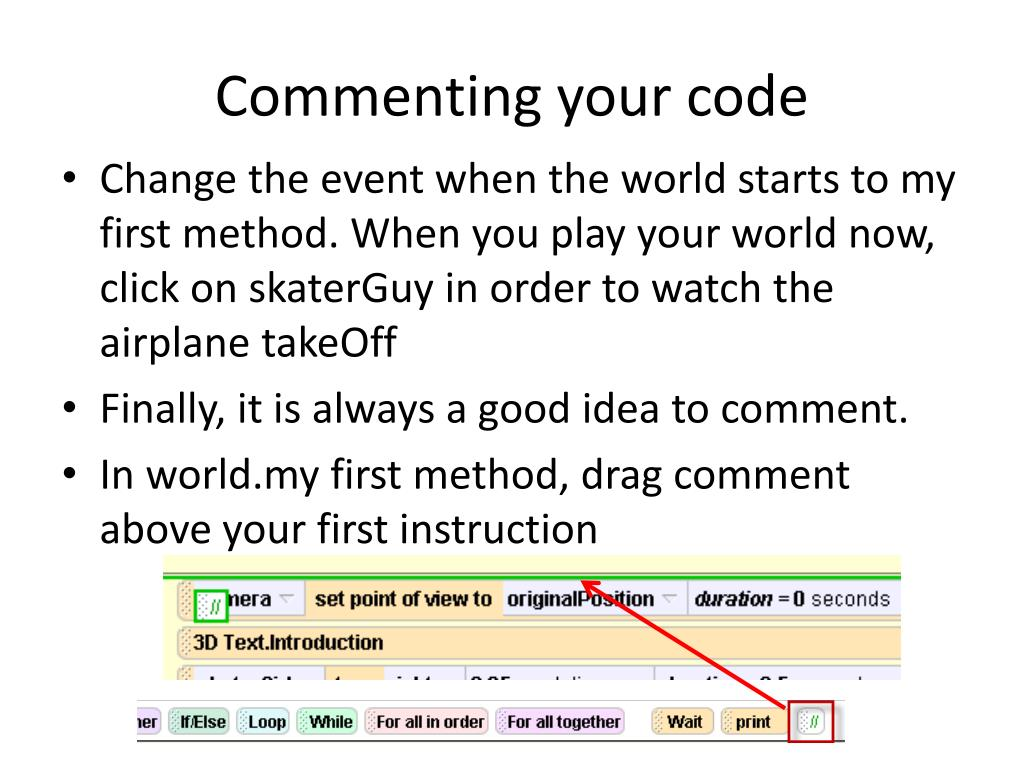 Commenting your code