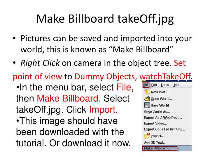 Make Billboard takeOff.jpg