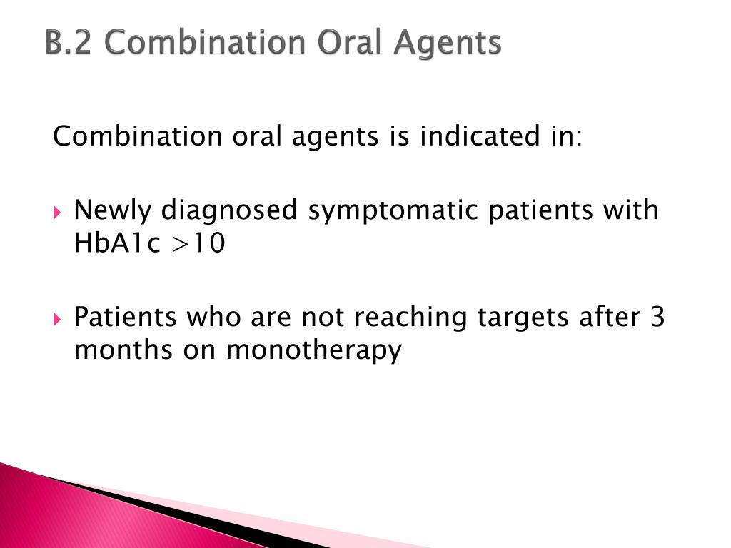 B.2 Combination Oral Agents