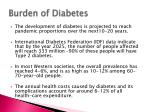 burden of diabetes
