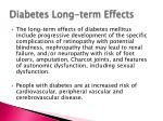diabetes long term effects