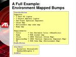 a full example environment mapped bumps