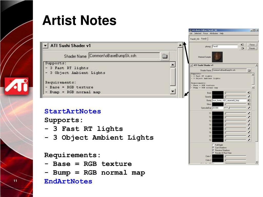 Artist Notes