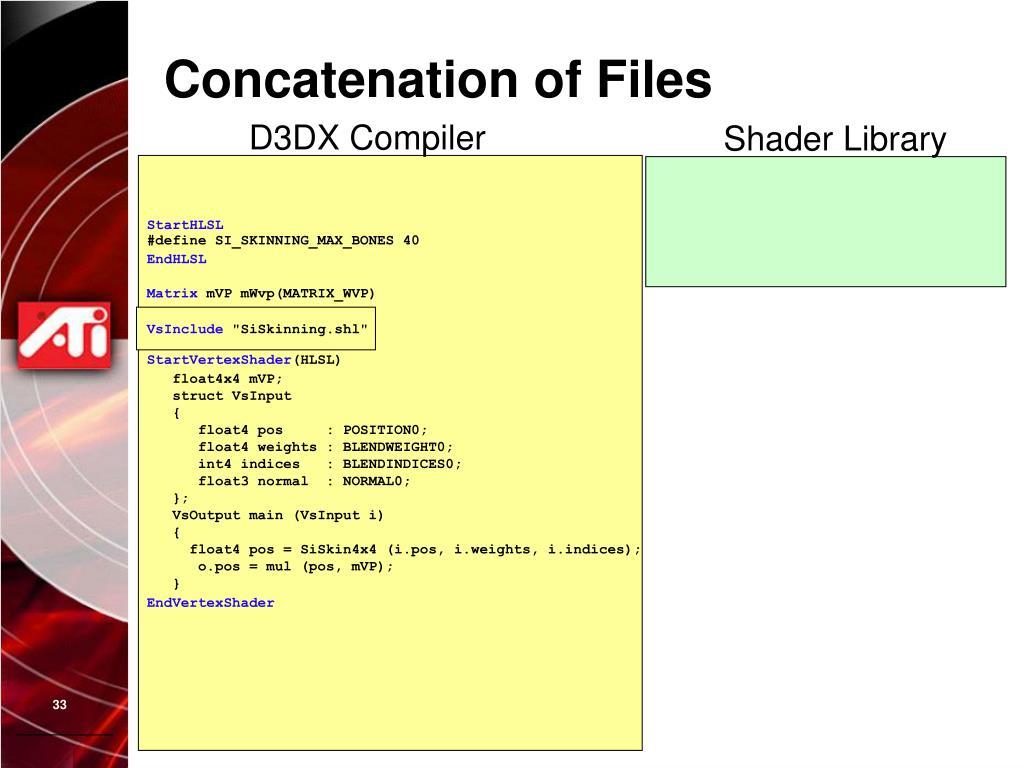 Concatenation of Files