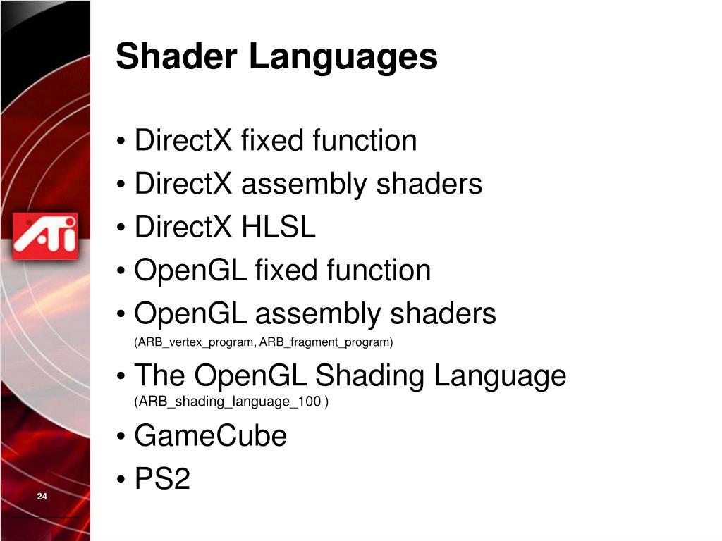 Shader Languages