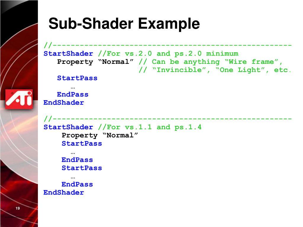 Sub-Shader Example