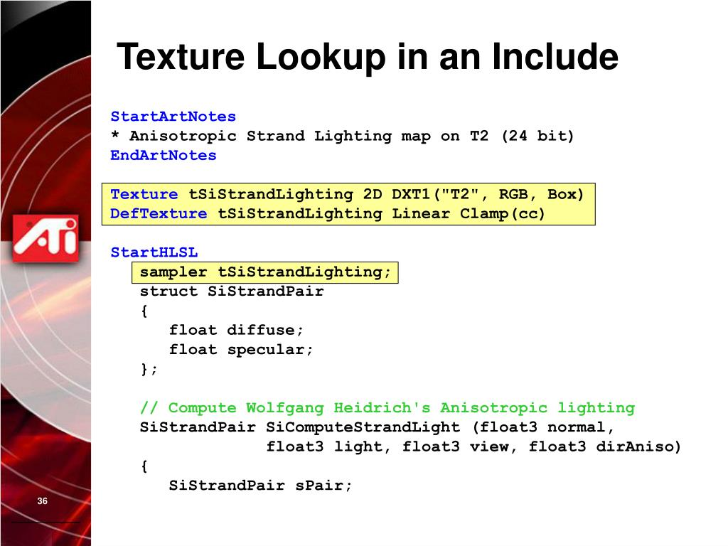 Texture Lookup in an Include