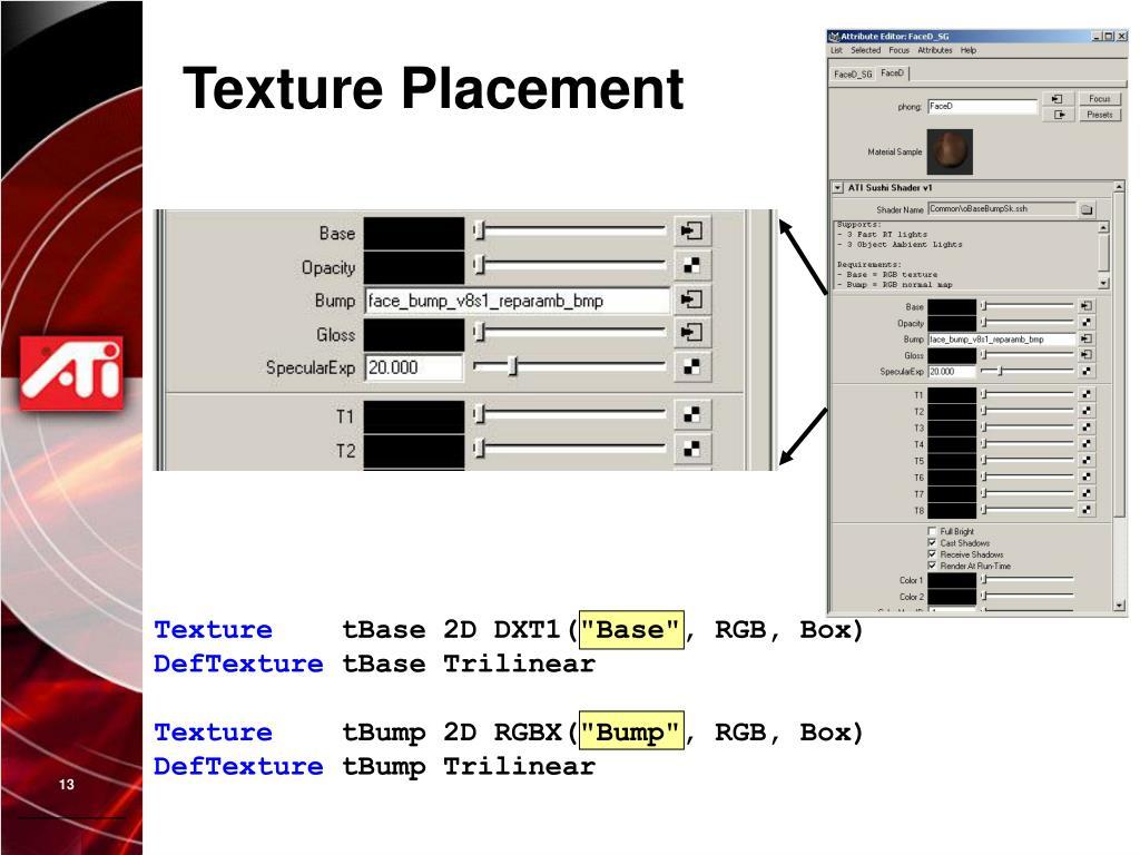 Texture Placement