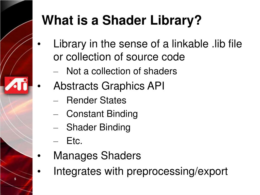 What is a Shader Library?
