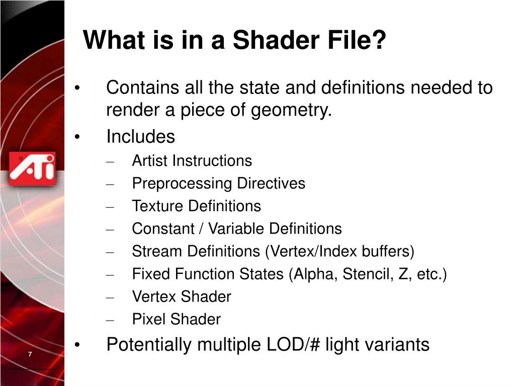 What is in a Shader File?