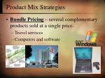 product mix strategies7