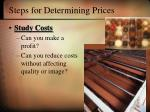 steps for determining prices20