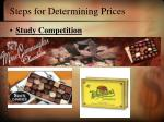 steps for determining prices22