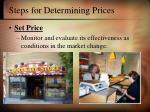 steps for determining prices24