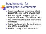 requirements for intelligent environments