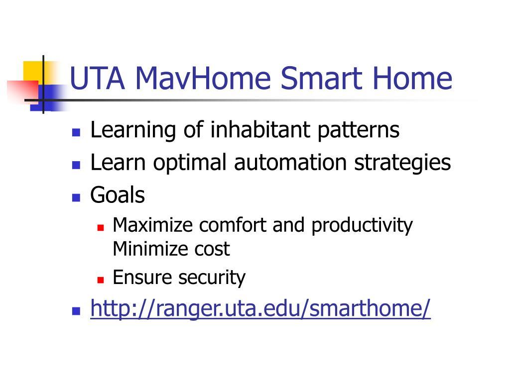 UTA MavHome Smart Home