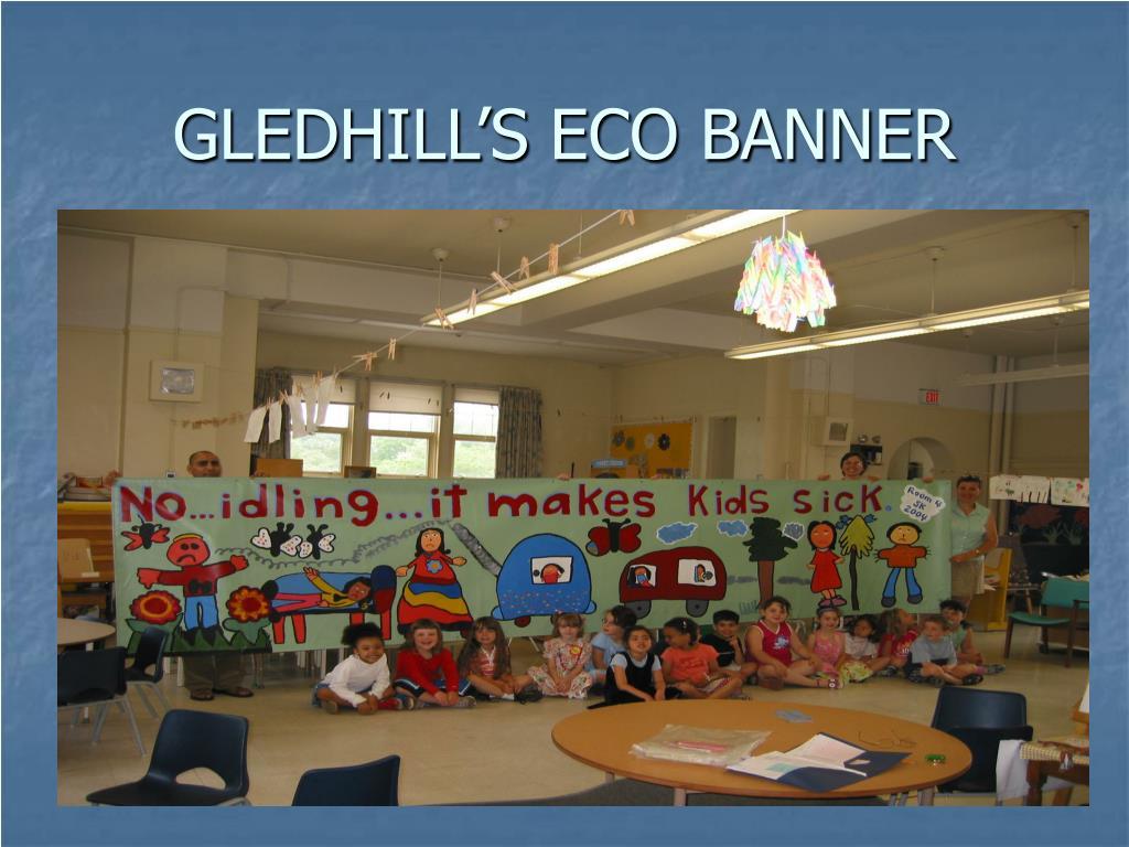 GLEDHILL'S ECO BANNER