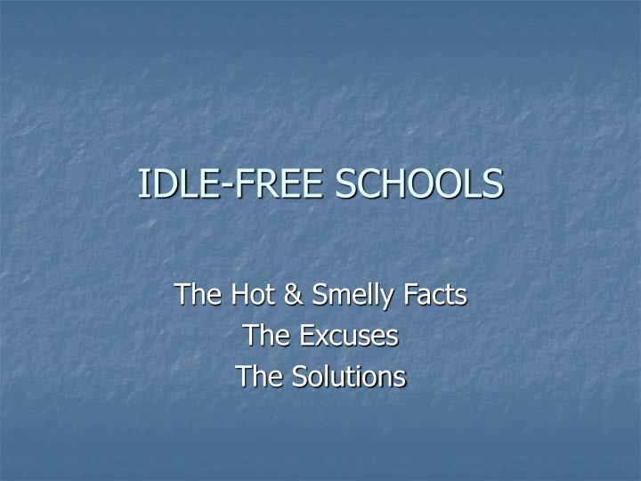 Idle free schools