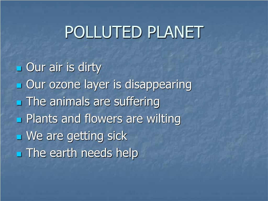 POLLUTED PLANET