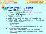 allotment orders 3 stages