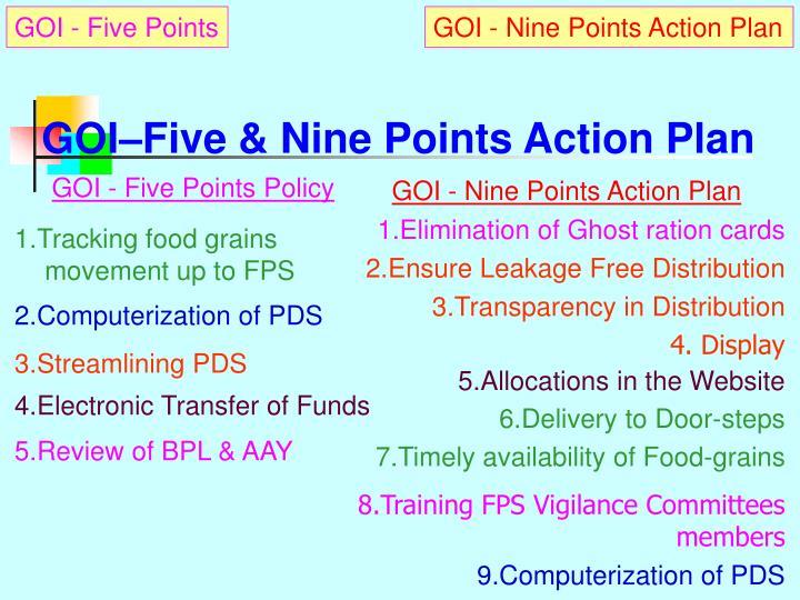 Goi five nine points action plan