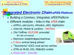 integrated electronic chain epds platform
