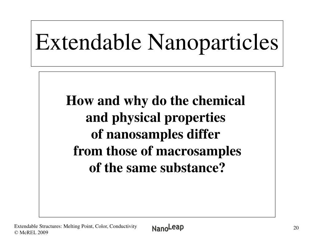 Extendable Nanoparticles
