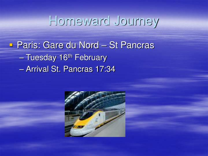 Homeward journey