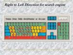 right to left direction for search engine
