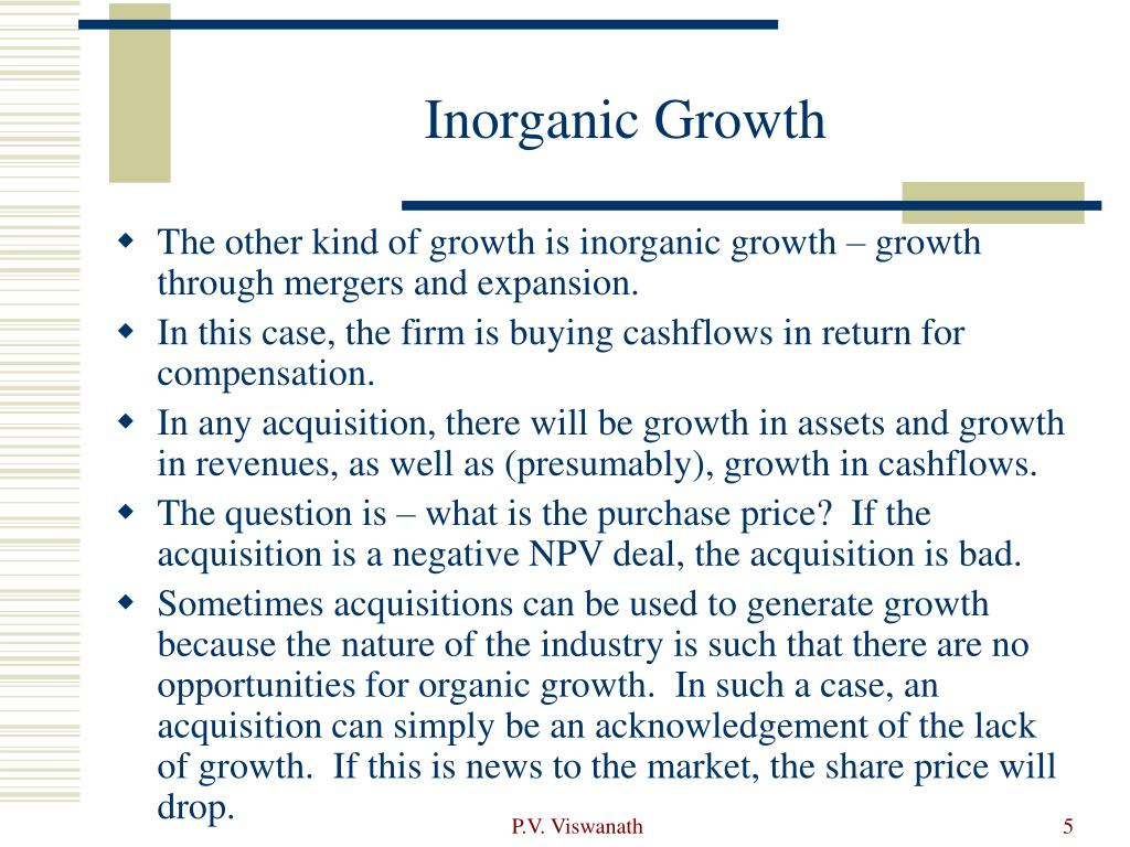 Inorganic Growth