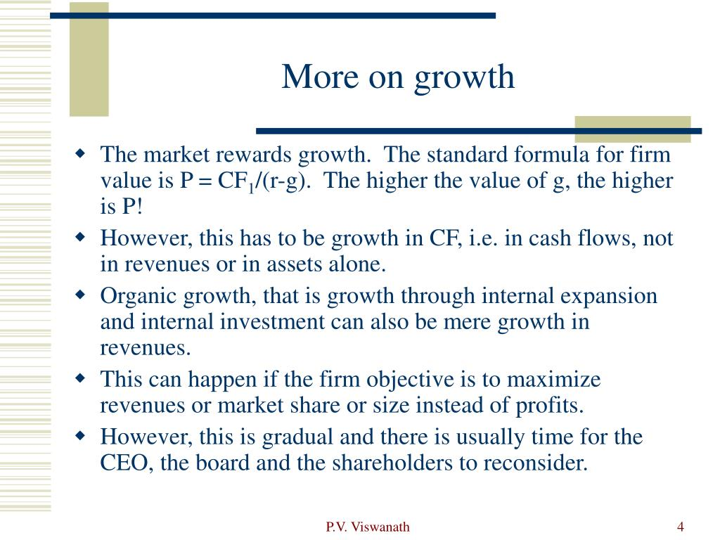 More on growth